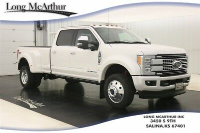2017 Ford F-450 4WD PLATINUM 4X4 SUPER DUTY DIESEL CREW CAB DUALLY MSRP $84665 4WD 4 DOOR 6 SPEED AUTOMATIC FX4 OFF ROAD SUPER DUTY DUALLY HEATED COOLED SEATS