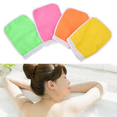 Shower Exfoliating Back Scrub Massage Sponge Wash Skin Spa Foam Bath Glove  TSCA