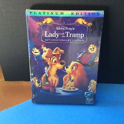 LADY AND THE TRAMP (DVD 2006, Platinum Edition, 50th Anniversary Edition) Disney