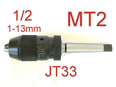 "1 pc Keyless 1/32""-1/2"" Drill Chuck With 2MT MT2 shank JT33 Arbor for CNC"