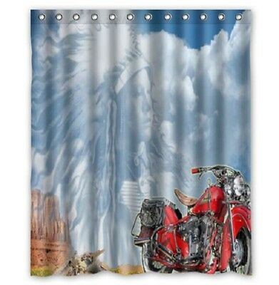 Great Indian Motorcycle Shower Curtain 60 X 72 Inch