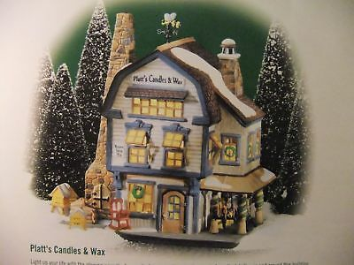 """DEPT. 56 NEW ENGLAND VILLAGE """"PLATTS CANDLES and WAX"""" #56614 _ Brand New!"""
