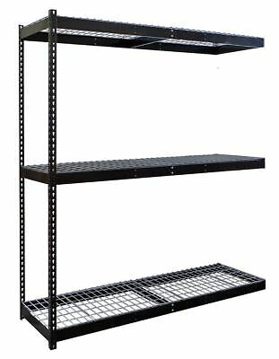 "Hallowell 72"" x 24"" x 84"" Steel Boltless Shelving Add-On Unit, Black; Number of"