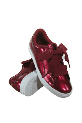 364917-02 Grade School Basket Heart Glam Jr Puma Tibetan Red Tibetan