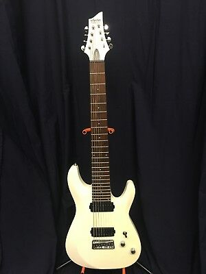SCHECTER C-8 DELUXE Satin White 8-String Solid-Body Electric