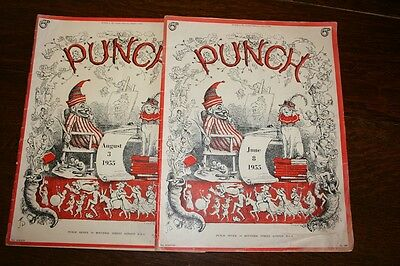 Two Vintage (1950's) Punch Magazines