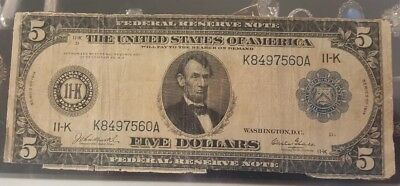1914 federal reserve note blue seal 11-k dallas texas