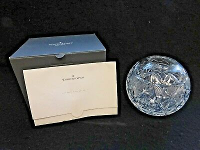 "Waterford Crystal ""rose Bowl 2000"" Signed By Jim Oileary"