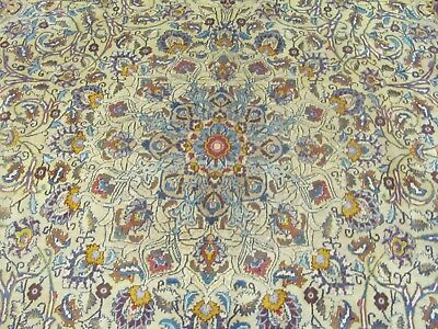 A SPECTACULAR OLD HANDMADE KASHMARE SIGNATURE CARPET (400 x 297 cm)