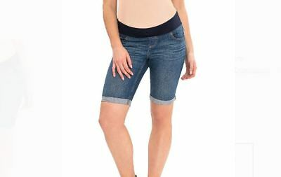 New Womens Great Expectations Shorts Maternity Medium wash Denim Jeans