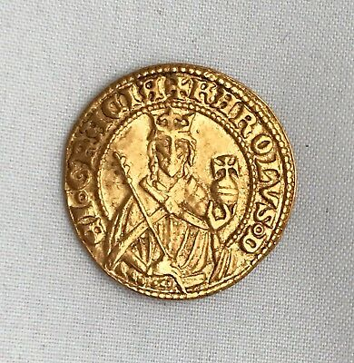 Germany Bohemia Charles IV Karl VI (1346-1378) Gold Ducat Goldgulden