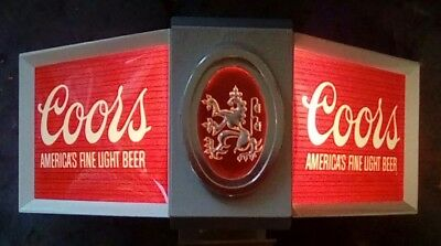 1979 Coors Beer Countertop Clamp On Bar Display Light