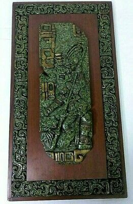 Original Zarebski Wall Plaque Mid Century Mexican Maya Culture - I
