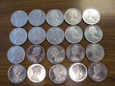 1966 AU-BU Roll Canada Silver Dollars (20) Coins! Nice Collector Lot! Very nice!