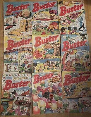 BUSTER Comic Lot - All Of 1988 - 53 Issues Plus Buster Book 1989