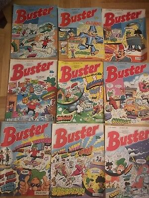 BUSTER Comic Lot - All Of 1989 - 52 Comics Plus Buster Book 1990