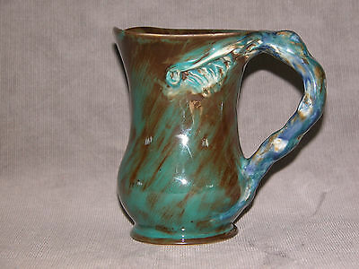 Cruffel Porcelain Jug Branch Handle   Merric Boyd