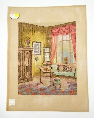 Lindhorst Tapisserie Needlepoint Wall Tapestry Sewing Room Scene German Germany