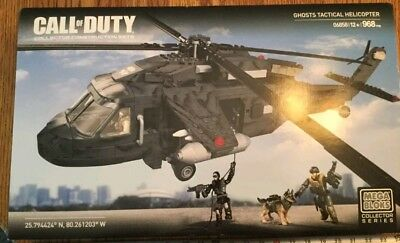 Call Of Duty Mega Bloks Construx Ghosts Attack Helicopter 968 pieces