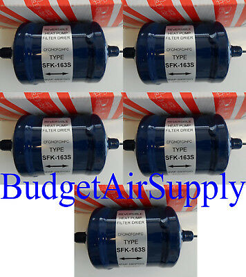 Lot of 5ea BiFlow filter drier Heat pump BFK SFK 163s 3/8 SAE Sweat-Liquid Line
