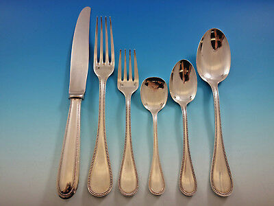 Perles by Christofle Silverplate Flatware Set for 18 Dinner Service 108 pieces
