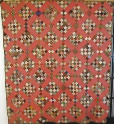 Fabric Study Journey! c 1830-60s Postage Stamp Antique PA Quilt