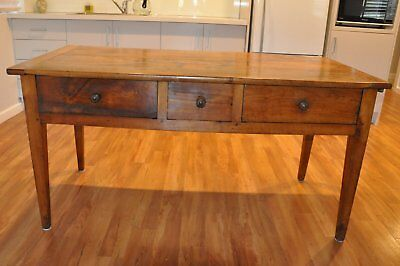 Antique Hall Table With Extension Leaf