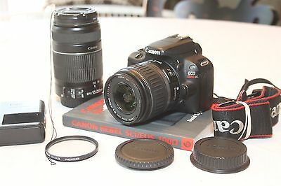 Canon EOS Rebel SL1 / EOS 100D 18.0MP Digital SLR w/ 18-55mm & 55-250mm lens