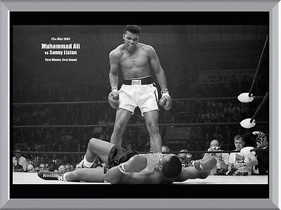 Muhammad Ali vs Sonny Liston A1 To A4 Size Poster Prints