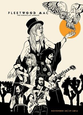 Fleetwood Mac At The Forum A1 To A4 Size Poster Prints