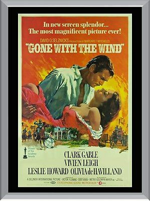 Gone With The Wind Vintage Movie A1 To A4 Size Poster Prints