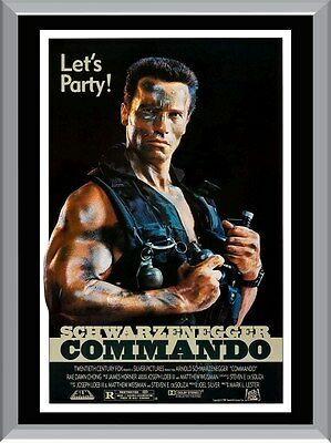 Commando Schwarzenegger Movie A1 To A4 Size Poster Prints