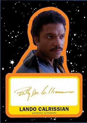 Topps Star Wars Card Trader Journey to The Last Jedi Lando Calrissian Gold Sig