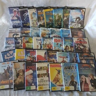 Family Movie Pack 38 x DVDs Shiloh, NeverEnding Story,Free Willy, Wild America