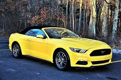 2016 Ford Mustang Eco Boost Premium Convertible 2016 FORD MUSTANG EcoBoost Convertible Triple Yellow