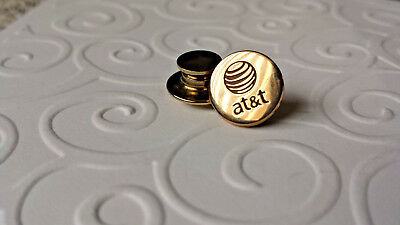 AT&T 1/10 10K gold filled PIN TIE TAC - MADE BY O C TANNER USA