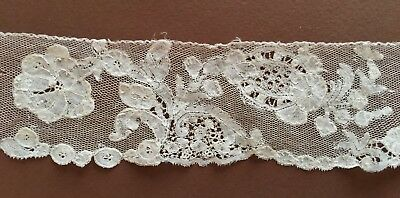 Extraordinary handmade Brussels bobbin lace 18th Century COLLECTOR