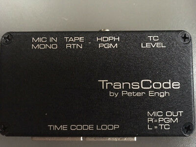 Peter Engh Transcode Time Code Transcription Box - FREE SHIPPING
