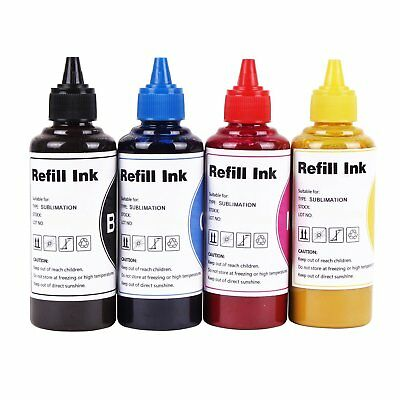 4 Pk 100ml Sublimation Ink for Epson WF-2750 WF-2760 WF-2650 WF-2630 XP-424 T220