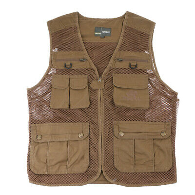 Men's Fishing Hiking Photography Vest Cotton Shooting Camping Jacket 5 Size
