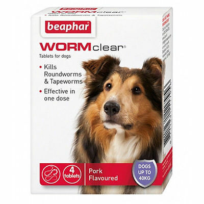 Beaphar WORMclear Dog Worming Tablets Up To 40Kg FREE P&P MULTIBUY