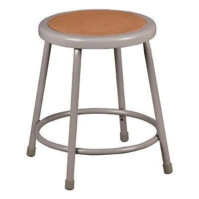 """Learniture Steel Stool with Hardboard Seat 18"""" Seat Height Gray NOR-TY-538-18"""