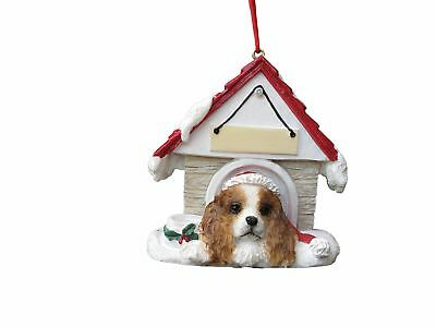 Cavalier King Charles Spaniel Brown Doghouse Christmas Ornament