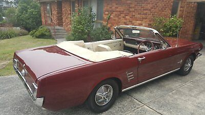 1966 Ford Mustang Convertible, Right Hand Drive 289 3 Speed