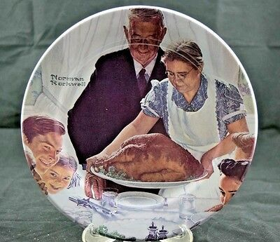 """Norman Rockwell """"Freedom From Want"""" Four Freedoms Limited Edition Collection L15"""