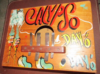 Vintage Calypso Rumba Box Jamaican Folk Musical Instrument Thumb Box