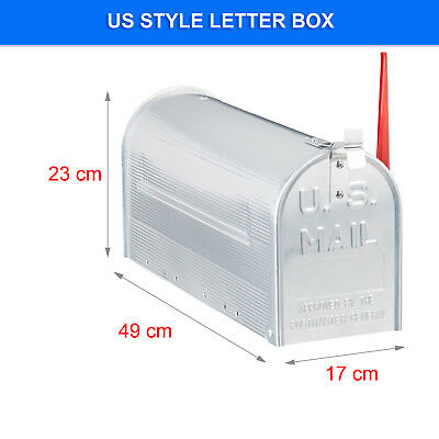 US style Letterbox AMERICAN MAIL BOX Indicator Stainless STEEL RED FLAG Mailbox