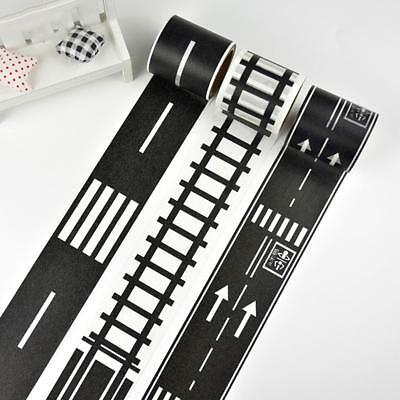 Creative Railway Washi Tape Traffic Road Adhesive Masking Tape Car Play Toy Pro