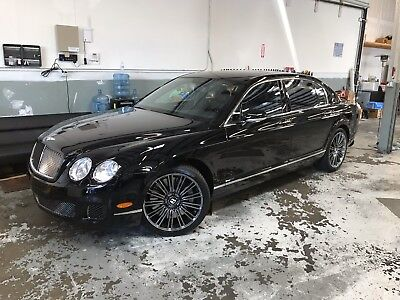 2009 Bentley Continental GT Flying Spur SPEED 2009 Bentley Flying Spur Speed Black Black LOADED