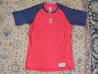 BOSTON RED SOX NIKE TRAINING TOP AUTHENTIC APPAREL size ADULT SMALL